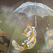 """Зонты ручной работы. Ярмарка Мастеров - ручная работа Зонт с росписью """"Ветер перемен"""". Handmade."""