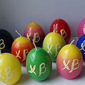 Сувениры и подарки ручной работы. Ярмарка Мастеров - ручная работа Свечи Пасхальные яйца. Handmade.
