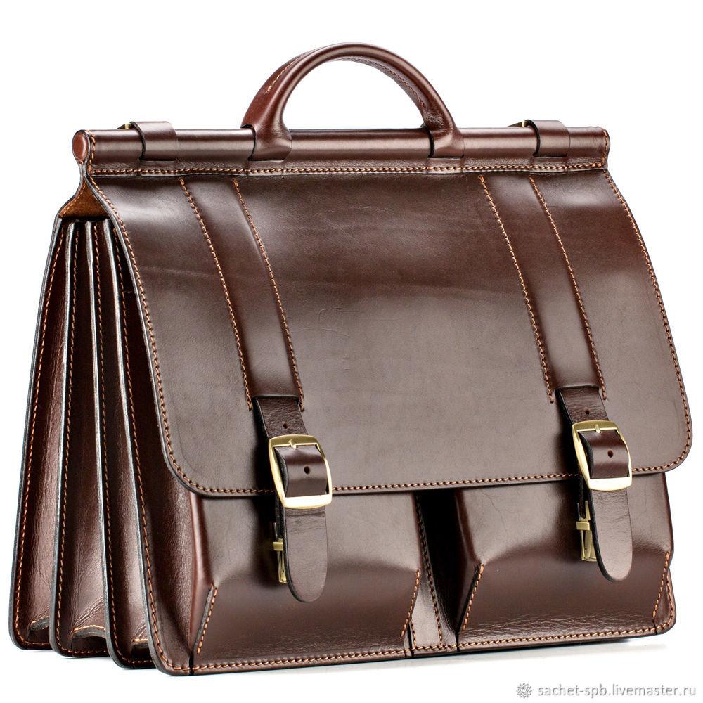 17c46f684e36 Мужские сумки ручной работы. Ярмарка Мастеров - ручная работа. Купить  Кожаный портфель