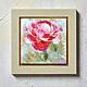 """Картины цветов ручной работы. Ярмарка Мастеров - ручная работа. Купить Картина розовая роза """"Роза Кармина"""" авторская печать  - Панно. Handmade."""