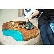 Столы ручной работы. Ярмарка Мастеров - ручная работа Кофейный столик из спила Карагача. Handmade.