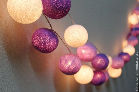 Освещение ручной работы. Ярмарка Мастеров - ручная работа. Купить Пурпурная ночь. Handmade. Фиолетовый, детская, освещение, арка, светодиод