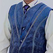 Одежда handmade. Livemaster - original item Felted vest mens. Handmade.