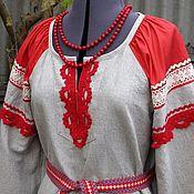 Одежда ручной работы. Ярмарка Мастеров - ручная работа Платье русское женское. Handmade.