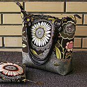 """Сумки и аксессуары ручной работы. Ярмарка Мастеров - ручная работа сумка """"Шоколадный Лотус"""". Handmade."""