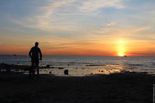 Фотокартины ручной работы. Ярмарка Мастеров - ручная работа. Купить Провожая солнце. Handmade. Оранжевый, фотография, пейзаж, закат, море