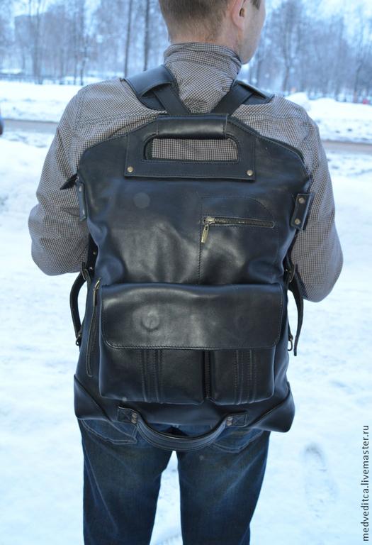 """Мужские сумки ручной работы. Ярмарка Мастеров - ручная работа. Купить мужская сумка """"Параплан"""". Handmade. Черный, сумка для документов"""