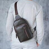 Сумки и аксессуары handmade. Livemaster - original item Men`s leather sling shoulder bag