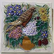 Для дома и интерьера ручной работы. Ярмарка Мастеров - ручная работа Изразцовое панно. Handmade.