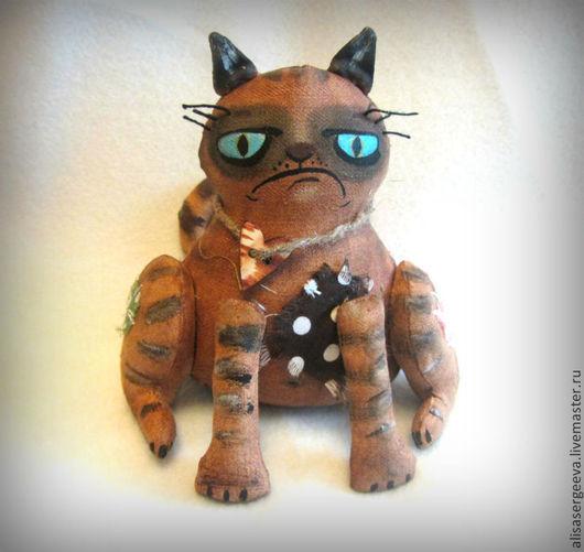 Ароматизированные куклы ручной работы. Ярмарка Мастеров - ручная работа. Купить Злой кот. Handmade. Коричневый, хлопок