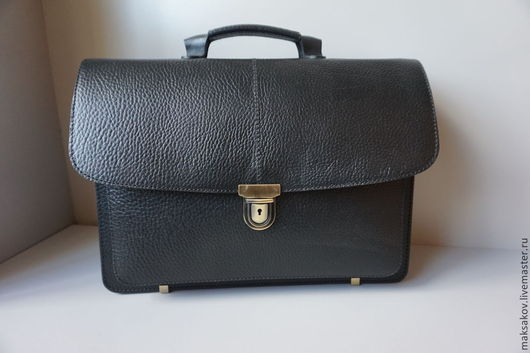 Мужские сумки ручной работы. Ярмарка Мастеров - ручная работа. Купить Чёрный портфель. Handmade. Черный, мужская сумка