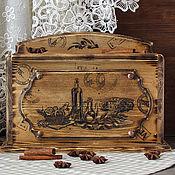 Для дома и интерьера handmade. Livemaster - original item Bread bin made of cedar with a linen pouch