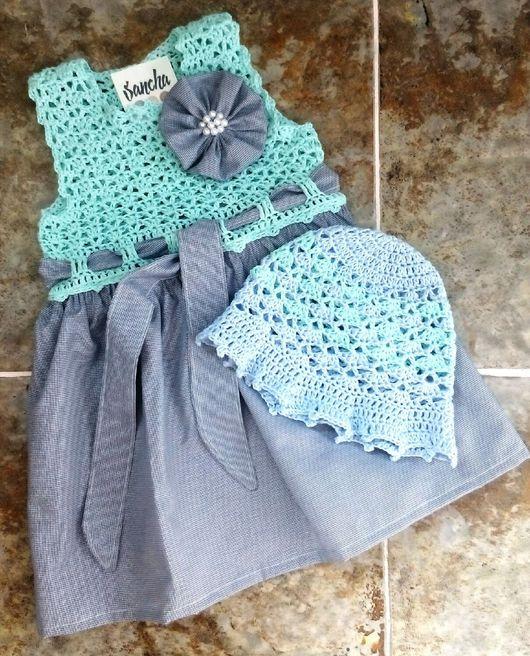 Одежда для девочек, ручной работы. Ярмарка Мастеров - ручная работа. Купить Платье для девочки. Handmade. Платье, для малышки, сарафан, вязаное