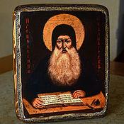 Картины и панно handmade. Livemaster - original item Wooden icon of St. Maxim the Greek. Icons of mount Athos. Handmade.