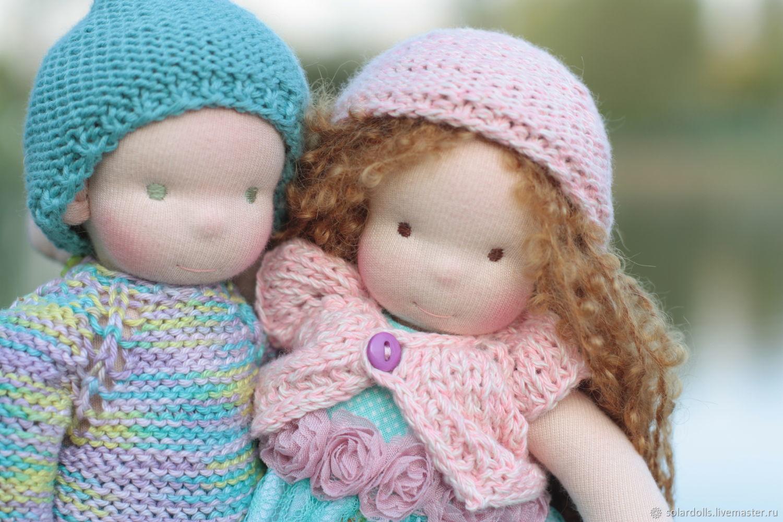 Вальдорфские куклы Лео и Ксюша 24 см, Куклы, Москва, Фото №1