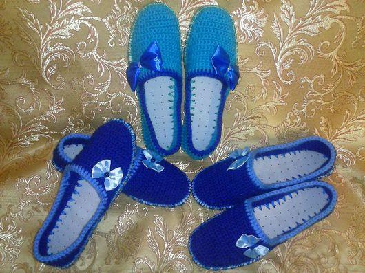 Обувь ручной работы. Ярмарка Мастеров - ручная работа. Купить Тапочки для дома. Handmade. Домашние тапочки, Тапочки ручной работы