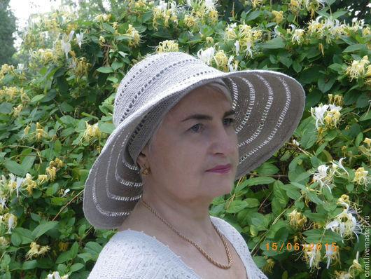 """Шляпы ручной работы. Ярмарка Мастеров - ручная работа. Купить Шляпа """"Льняная"""". Handmade. Серый, авторская работа, подарок"""