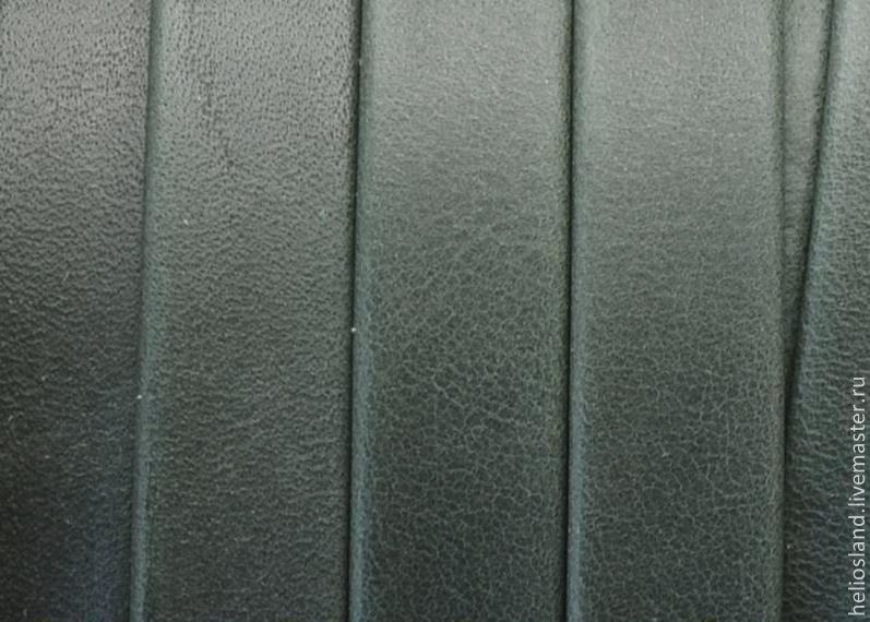 Кожаный шнур плоский 10 мм Denver бутылочное стекло, Шнуры, Москва,  Фото №1