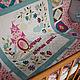 """Пледы и одеяла ручной работы. Лоскутное одеяло """"Однажды давным давно..."""". Островская Виктория. Ярмарка Мастеров. Цветочный узор"""