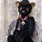 Куклы и игрушки ручной работы. Ярмарка Мастеров - ручная работа Кошка Черная №3. Handmade.