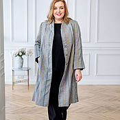 Одежда handmade. Livemaster - original item Raincoat lined with cotton stripes sizes 56-58. Handmade.
