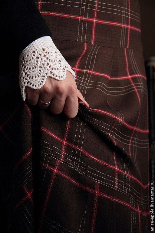"""Варежки, митенки, перчатки ручной работы. Ярмарка Мастеров - ручная работа. Купить """"Queen Elizabeth"""", манжеты. Handmade. Белый, викторианский"""
