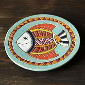 Посуда ручной работы. Ярмарка Мастеров - ручная работа БРОНЬ! Тарелка керамическая с рыбкой 1. Handmade.