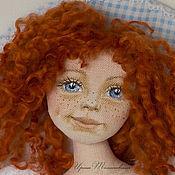 Куклы и игрушки ручной работы. Ярмарка Мастеров - ручная работа Милый друг, мой ангел. Панно текстильная кукла ангел.. Handmade.