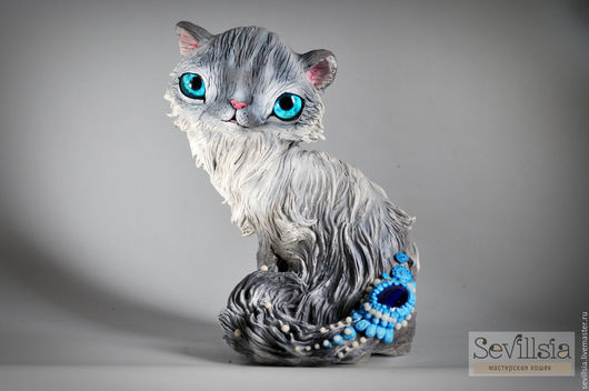 Collectible Dolls handmade. Livemaster - handmade. Buy Ofelia Neva masquerade cat.Turquoise, neva masquerade, gift., acrylic paint