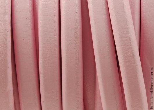 Для украшений ручной работы. Ярмарка Мастеров - ручная работа. Купить Кожаный шнур REGALIZ розовый. Handmade. Регализ