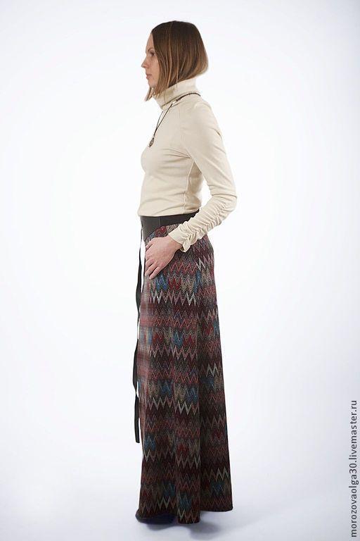 Трикотажные юбки в пол в