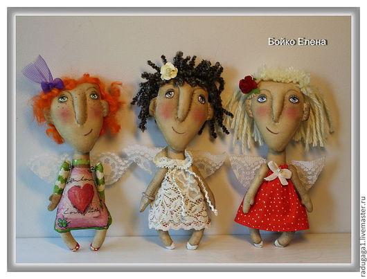 Коллекционные куклы ручной работы. Ярмарка Мастеров - ручная работа. Купить Феечки. Handmade. Ангелочек, крылья, коллекционные игрушки