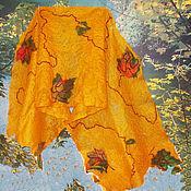 """Аксессуары ручной работы. Ярмарка Мастеров - ручная работа палантин-паутинка валяный """"Осень"""". Handmade."""