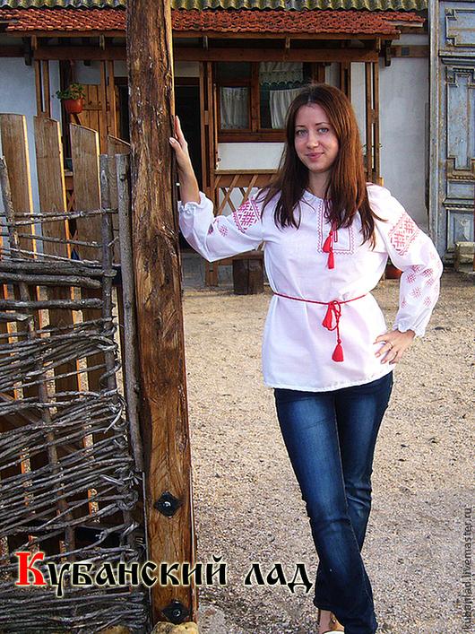 """Одежда ручной работы. Ярмарка Мастеров - ручная работа. Купить Женская вышитая сорочка """"Репейник"""" с длинным рукавом. Handmade."""