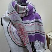 Шарфы ручной работы. Ярмарка Мастеров - ручная работа Яркий шарф для молодой девушки. Handmade.