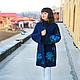 """Верхняя одежда ручной работы. Пальто """"Вечерние цветы"""". Интересная вещица. Ярмарка Мастеров. Вязанное пальто, пальто вязаное, цветы"""