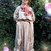 Одежда handmade. Livemaster - original item Boho Dress. Floor-length dress.. Handmade.