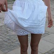 Одежда ручной работы. Ярмарка Мастеров - ручная работа Юбка+шорты из хлопка.. Handmade.