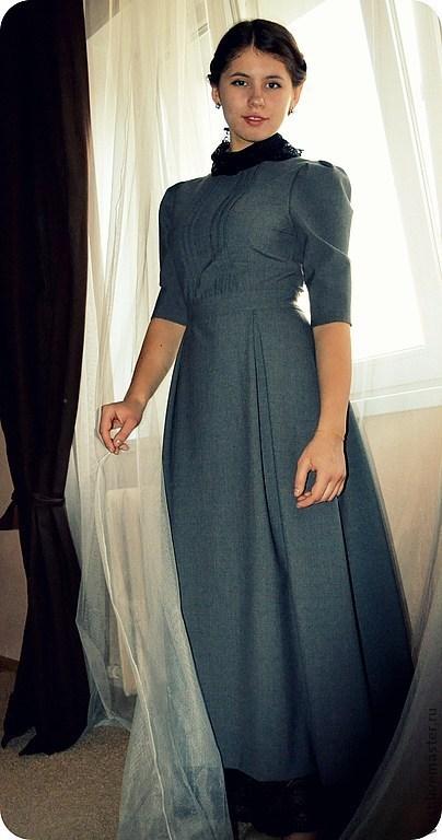 Платья ручной работы. Ярмарка Мастеров - ручная работа. Купить Платье для Нонны. Handmade. Серый, лицей, званый ужин, кружево