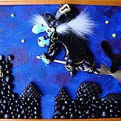 """Картины и панно ручной работы. Ярмарка Мастеров - ручная работа """"Ночь. Крыши. Улёт..."""". Handmade."""