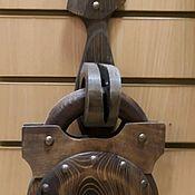 Часы классические ручной работы. Ярмарка Мастеров - ручная работа Часы настенные  из дерева  замок. Handmade.