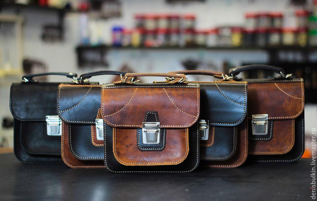 Мотосумки на бедро, байкерские сумки из кожи и ткани