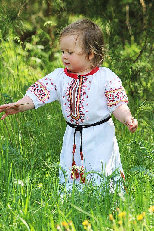 """Одежда для девочек, ручной работы. Ярмарка Мастеров - ручная работа. Купить Платье """"Беленькое"""". Handmade. Орнамент, славянский, Вышивка крестом"""
