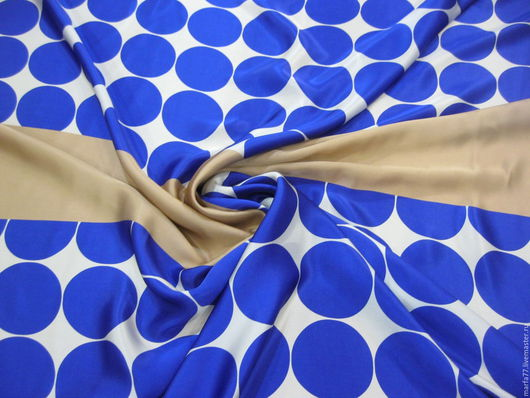Шитье ручной работы. Ярмарка Мастеров - ручная работа. Купить Шелковый атлас. Handmade. Синий, шелк 100%, тканиландия