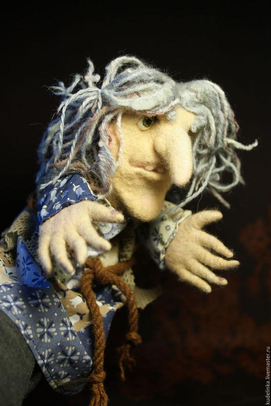Кукольный театр ручной работы. Ярмарка Мастеров - ручная работа. Купить Перчаточная кукла Баба Яга. 30 см. Handmade.