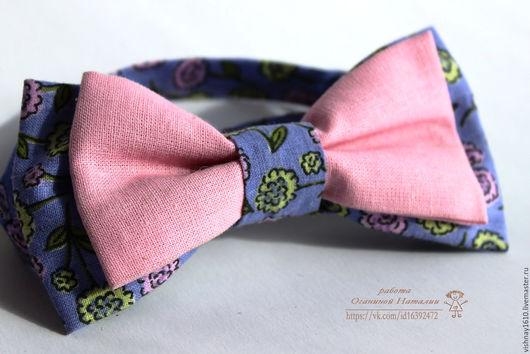 Галстуки, бабочки ручной работы. Ярмарка Мастеров - ручная работа. Купить Галстук-бабочка. Handmade. Комбинированный, розовый, галстук-бабочка