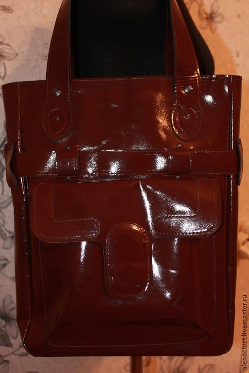 """Женские сумки ручной работы. Ярмарка Мастеров - ручная работа. Купить Кожаная сумка """"Колледж"""". Handmade. Коричневый, женская сумка"""