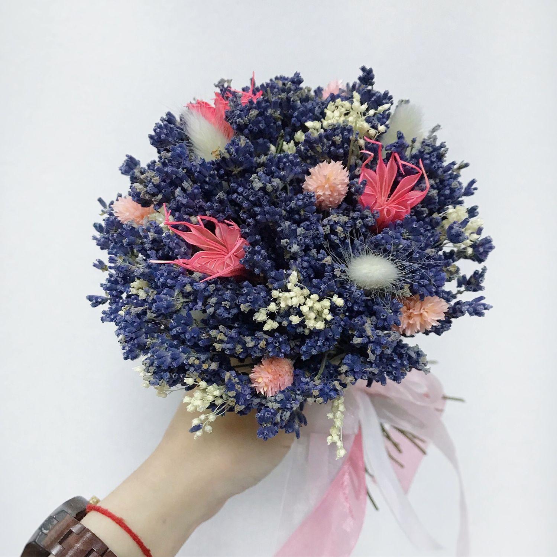 Букеты ручной работы. Ярмарка Мастеров - ручная работа. Купить Букет лаванды с сухоцветами. Handmade. Лаванда сухоцвет, букет сухоцветов