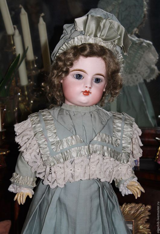 Одежда для кукол ручной работы. Ярмарка Мастеров - ручная работа. Купить Платье и боннет для антикварной куклы. Handmade. Антикварная кукла