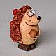 фигурка ежа  ёж керамический  сувенир ежика  керамика ёж  статуэтка ежа сувенир ёжика ёжик с яблоками фигурка ежа из глины
